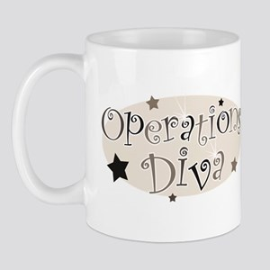 """Operations Diva"" [brown] Mug"